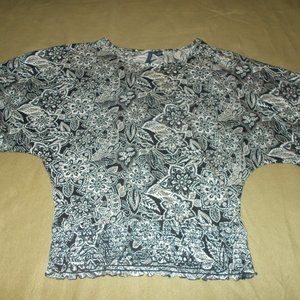 Ashley Judd Floral Top Size Extra Large